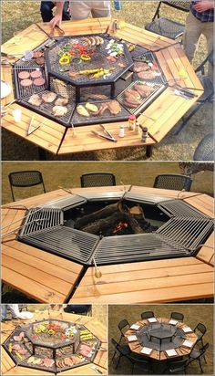 This versatile grill also serves as a fire pit and table. Find a home plan with outdoor living space. http://www.dongardner.com/House_Plans_with_Outdoor_Living_Spaces.aspx. #OutdoorLiving #HomePlan #Patio