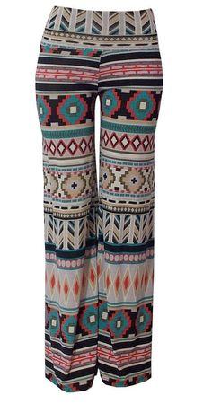 Aztec palazzo pajama yoga pants on Etsy, $35.00