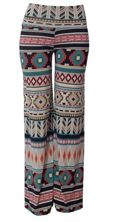 Aztec palazzo pajama yoga pants on Etsy, $35.00- I totally want these