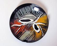 Vintage ENAMEL ASHTRAYcolorful abstract by LeFrenchBazaar on Etsy Ranch Homes For Sale, Enamel Dishes, Tuscan Decorating, Closet Designs, Orange Grey, Diy Home Crafts, Black Enamel, Vintage Colors, Vintage Home Decor