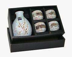 Amazon.com   Japanese 5pc Sake Set, Spring Blossom: Sake Sets