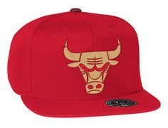Chicago Bulls Gold Metallic High Crown Fitted Baseball Cap by MITCHELL & NESS x NBA