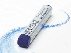 Winsor & Newton professional water colour stick.  Zeer hoog pigmentgehalte en kleurecht.  Geschikt om te werken in combinatie met aquarelverf.  Eerst droog tekenen en daarna met water oplossen.  Maat per krijtje: 8x8x58mm. Leverbaar in 48 heldere kleuren.