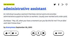 Administrative assistant | What Your Job Says About You According To Urban Dictionary