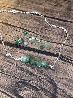 Libra Necklace, Crystal Bead Necklace, Quartz Necklace, Crystal Bracelets, Gemstone Necklace, Crystal Jewelry, Green Adventurine, Wire Jewelry Designs, Bead Jewelry