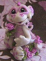 polymer clay dragon rosie by crazylittlecritters