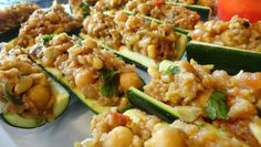 Moroccan Stuffed Zucchini