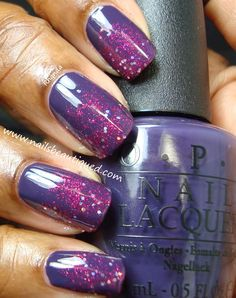 OPI Miss You-Niverse Accented With Sally Hansen Gem Crush Lady Luck | Nails Beautiqued