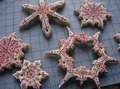 Lavoretti di Natale con la pasta di sale - Fiocchi di neve