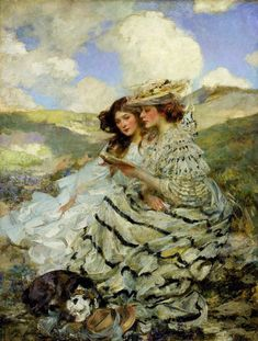 LARGE SIZE PAINTINGS: James Jebusa SHANNON On the Dunes
