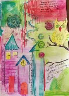 """My latest creation in my business art journal, entitled """"Be Happy!"""""""