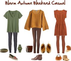 """""""Warm Autumn Weekend Casual"""" by jeaninebyers ❤ liked on Polyvore"""