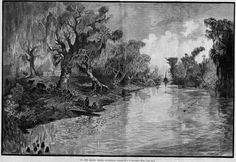 Fishing on Bayou Teche.  Source: unknown.  Shane K. Bernard Collection.