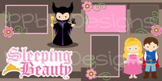 SVG Scrapbook Kit Cut (http://www.ppbndesigns.com/products/sleeping-beauty-scrapbook-page-kit-free-for-kit-club-members.html)