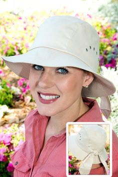 This sun protection hat has UPF 50+ built right in. Hats For Cancer Patients de4e19f3afd