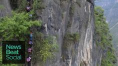 Cliffside Ladder Used by Chinese Children to be Replaced with Stairs