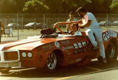 BRUTUS Funny Car was not a convertible. Had a problem with engine and lost top as well Funny Car Drag Racing, Funny Cars, Car Photos, Car Pictures, Pontiac Firebird, Drag Cars, Vintage Humor, Car And Driver, Vintage Racing