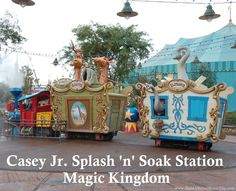 Disney World Facts: The Casey Jr. Splash 'n' Soak Station in the Storybook Circus area of the Magic Kingdom has circus cars with numbers that refer to the years the 4 Disney World theme parks opened: 71 = Magic Kingdom 82 = Epcot / 89 = Disney's Hollywood Studios / 98 = Animal Kingdom. Subscribe to our free newsletter for great Disney World secrets - http://www.buildabettermousetrip.com/disney-freebies/