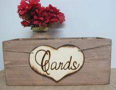 Rustic Wedding Wooden Card Box Programs Advice by dlightfuldesigns, $22.00
