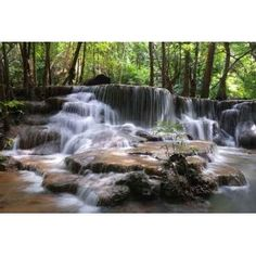 Waterfall, Kanchanaburi, Thailand   Peel And Stick Wall Decal By Wallmonkeys Part 86