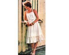 Tie Halter, Ruffled Sundress - 1970's  Complete Original Butterick pattern #4826