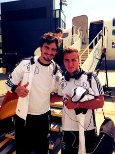 Mario Gotze and Mats Hummels