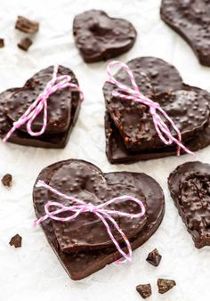 2 Ingredient Quinoa Chocolate Bar. Use cookie cutters to make this easy and healthy treat! Vegan and gluten free.