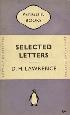 Gallery Tschichold: cover  of Selected Letters by D.H. Lawrence designed by  Jan Tschichold