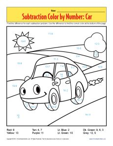 http://Thisfunsubtractionworksheethelpsyourstudentpracticesubtractionwithacolorbynumberpictureofacar.