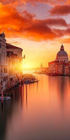 Puesta de sol ~ Venecia Italia
