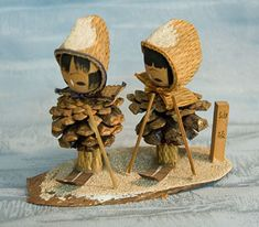 Kokeshi Japanese Wooden Doll Set - Pine Cone Figurines by softypapa, via Flickr