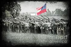 This image depicts the confederate army taking aim at the union. This image was taken at Sacramento, KY in May of 2012.