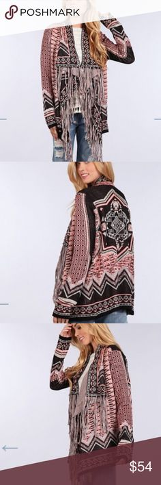 ⚜️NEW ARRIVAL ⚜️BLU PEPPER AZTEC FRINGE SWEATER BLU PEPPER IS SOLD IN ALL MAJOR DEPARTMENT STORES. THIS AZTEC FRINGE SWEATER SELLS RETAIL FROM 69.00 TO 118.00. SELLING FOR MUCH LESS ON THIS SITE. Blu Pepper Sweaters Cardigans