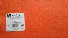 Felt - Orange - Kunin Eco Rainbow Classic Felt Made from Recycled Plastic Bottles Eco-Fi Eco Friendly Recycled Polyester by LoveEllieBagMaking Find it now at http://ift.tt/2e59zi0!