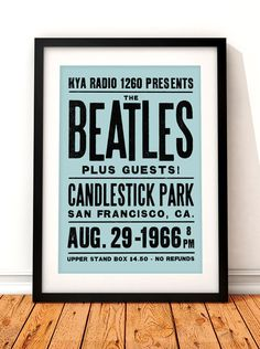 The Beatles concert poster The Beatles art print music