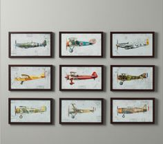 etsy photos of air planes  I love this idea, though I think I would do motorcycles instead of airplanes.