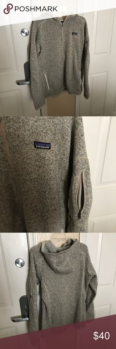 Paragons fleece zip up Oatmeal/heather color. All zippers fully operational. Deep front pockets, small pocket on left arm. Patagonia Jackets & Coats