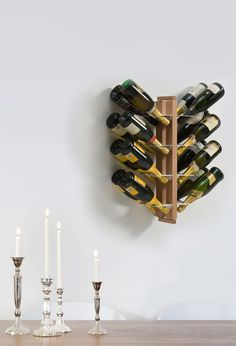 This Wooden Bottle Display is just the right touch when wanting to show off your wine Choices