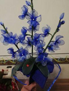 Kék orchidea csokor