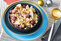 Apfel-Weichsel-Crumble mit Vanilleobers Cauliflower, Oatmeal, Vegetables, Breakfast, Food, Vanilla, Apple, Easy Meals, Koken