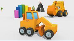 Cartoni Animati per Bambini - Max l'escavatore: come si costruisce una l...