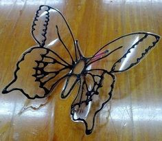 BUTTERFLY MADE OF PLASTIC BOTTLES