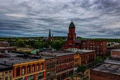 Lewiston Maine Skyline - Original fine art cityscape photography by Bob Orsillo.  Copyright (c)Bob Orsillo / http://orsillo.com - All Rights Reserved.