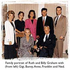 The Graham family; Gigi, Bunny, Anne, Franklin, Ned, Ruth and Billy