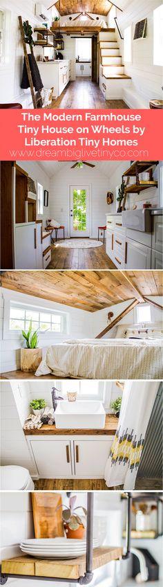 The Modern Farmhouse Tiny House on Wheels by Liberation Tiny Homes