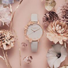 """It's all about detail"" bij Olivia Burton - Jeweline Magazine Fancy Watches, Trendy Watches, Elegant Watches, Beautiful Watches, Unusual Watches, Rose Gold Watches, Luxury Watches, Watches Photography, Jewelry Photography"