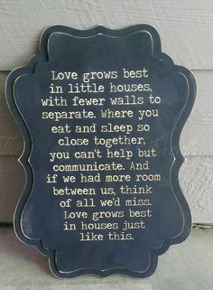 Love grows best in little houses 24x17 by TheMonogrammedWreath, $40.00