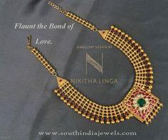 Gold Antique Necklace Design, Gold Necklace Designs Under 1 Lakh, Gold Necklace Under Price 1 Lakh.