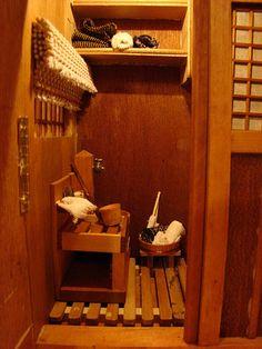 the Japanese dollhouse bath house