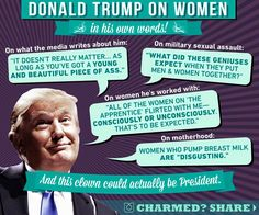 If you voted for Trump your are NOT for women's rights or feminism. Feminism is about supporting all women, which you obviously do not. Protein Cookies, Donald Trump, Fight Club, Dumb And Dumber, In This World, Food For Thought, Just In Case, Presidents, Thing 1